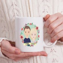 Cartoon Couple Avatar Mug - Ideal Anniversary, Wedding or Valentine's Day Gift